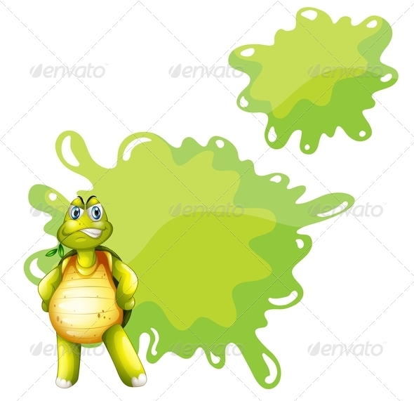 An Angry Turtle with an Empty Template