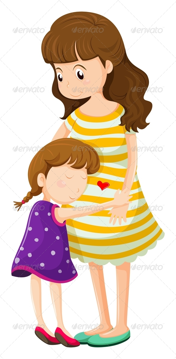 GraphicRiver Daughter Hugging Her Mother 7988161