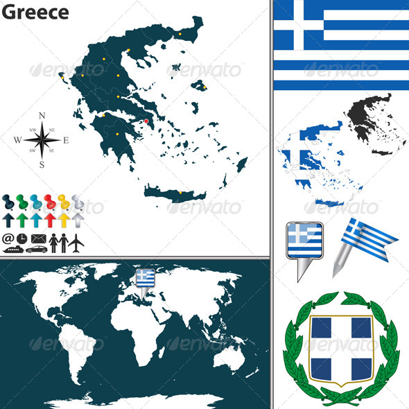 GraphicRiver Map of Greece 7988190