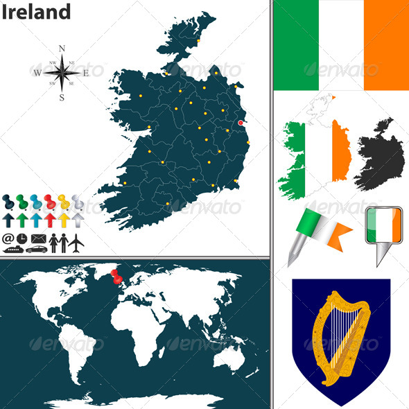 GraphicRiver Map of Ireland 7988202
