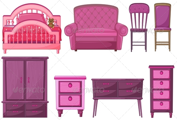GraphicRiver Furniture in Pink 7988206