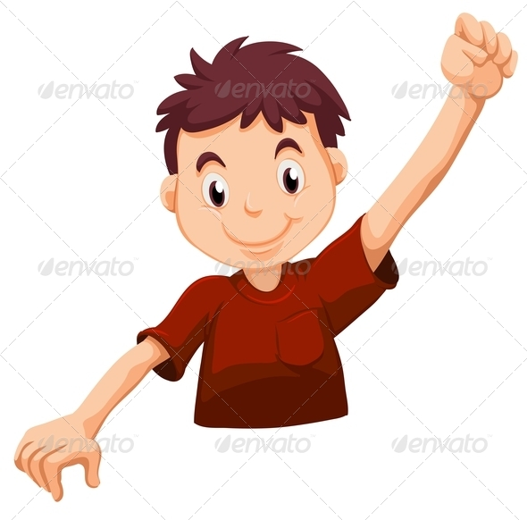 GraphicRiver A Kid Wearing a Red Shirt 7988234