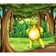 A Forest with a Turtle Standing in the Middle - GraphicRiver Item for Sale