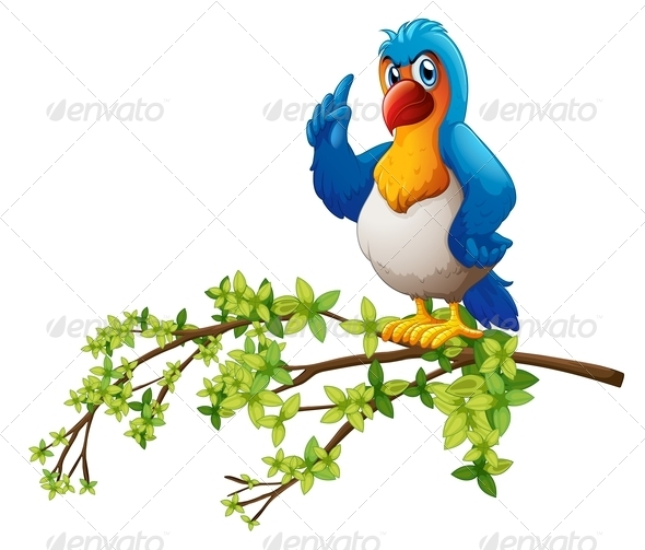 GraphicRiver A Parrot Above the Branch of a Tree 7988560