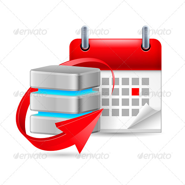 GraphicRiver Database Sign and Calendar 7988569