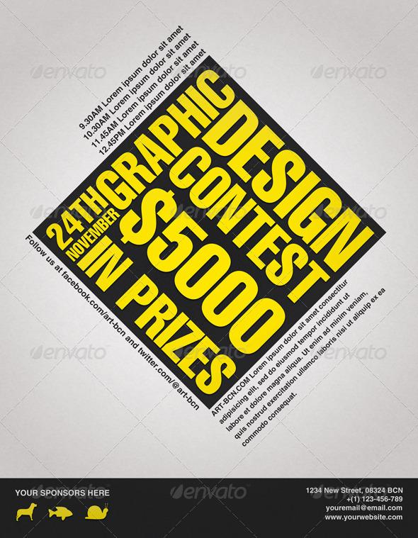 graphic design contest flyer graphicriver. Black Bedroom Furniture Sets. Home Design Ideas