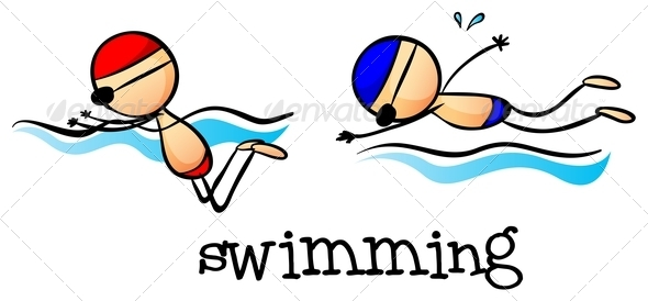 GraphicRiver Two Boys Swimming 7988654