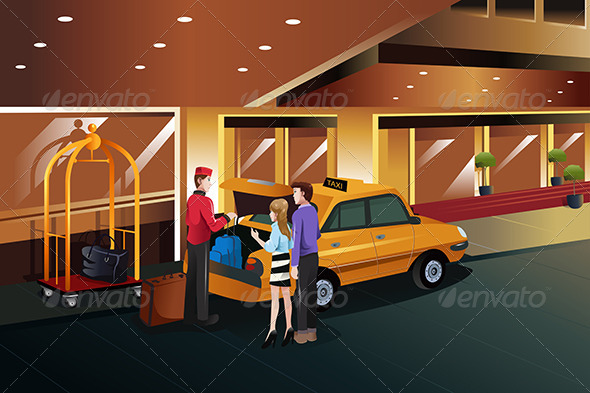 GraphicRiver Bellboy helping Customers 7988707