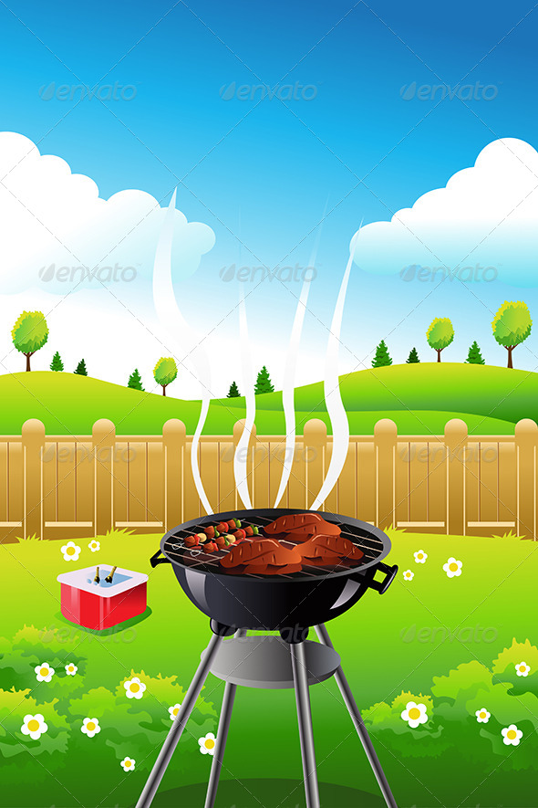 GraphicRiver BBQ Background 7988760