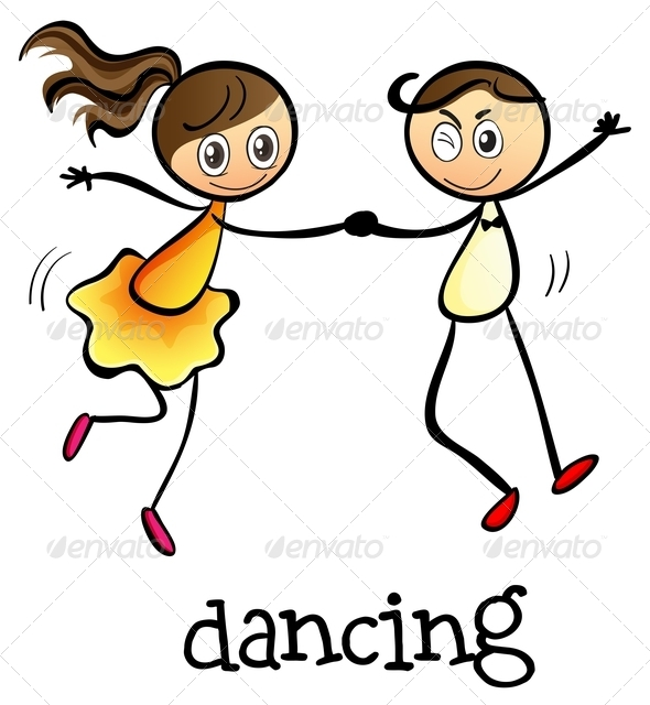 GraphicRiver A Girl and a Boy Dancing 7988935