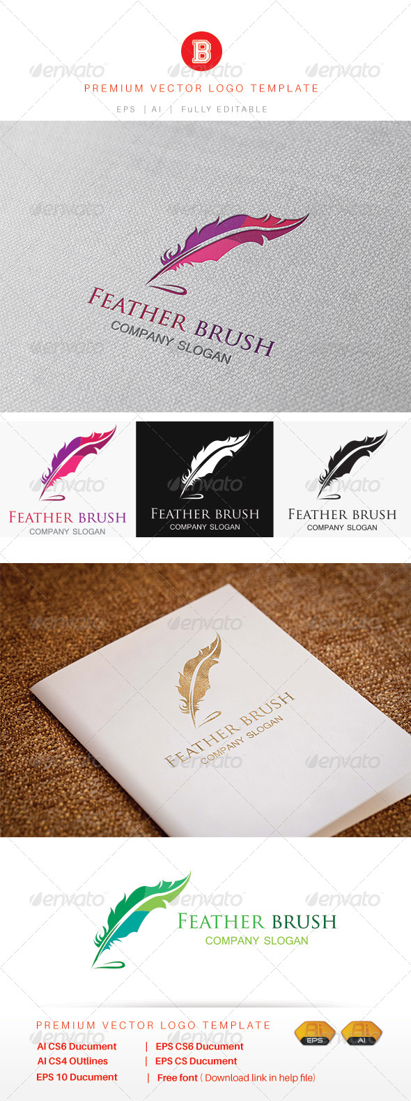 GraphicRiver Feather Brush 7988937