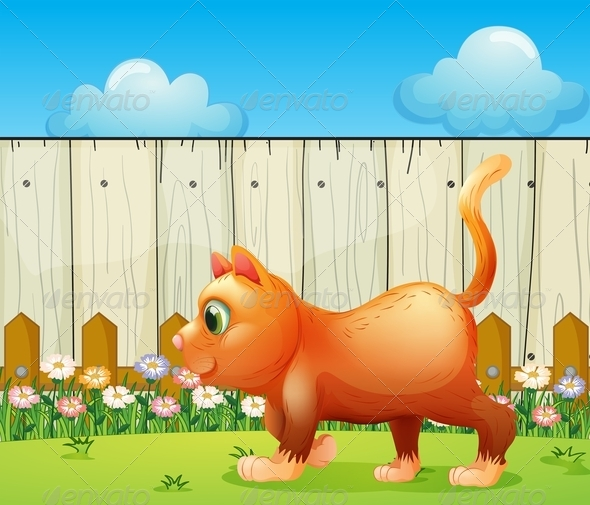 GraphicRiver A Fat Cat at the Backyard 7988943