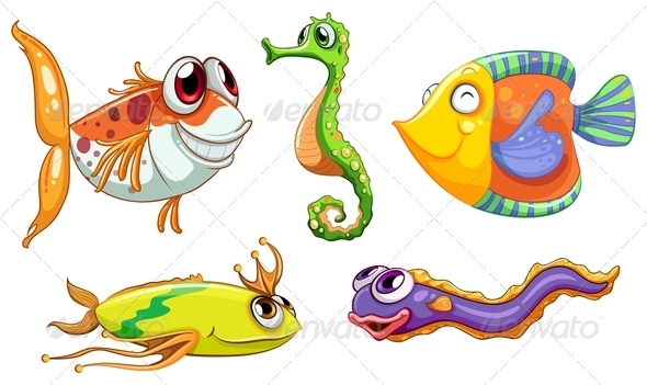 GraphicRiver Five Sea Creatures 7988951