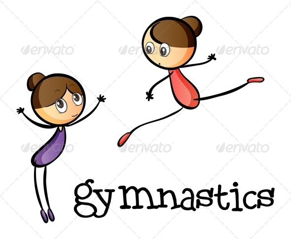 GraphicRiver Two Gymnasts 7988955