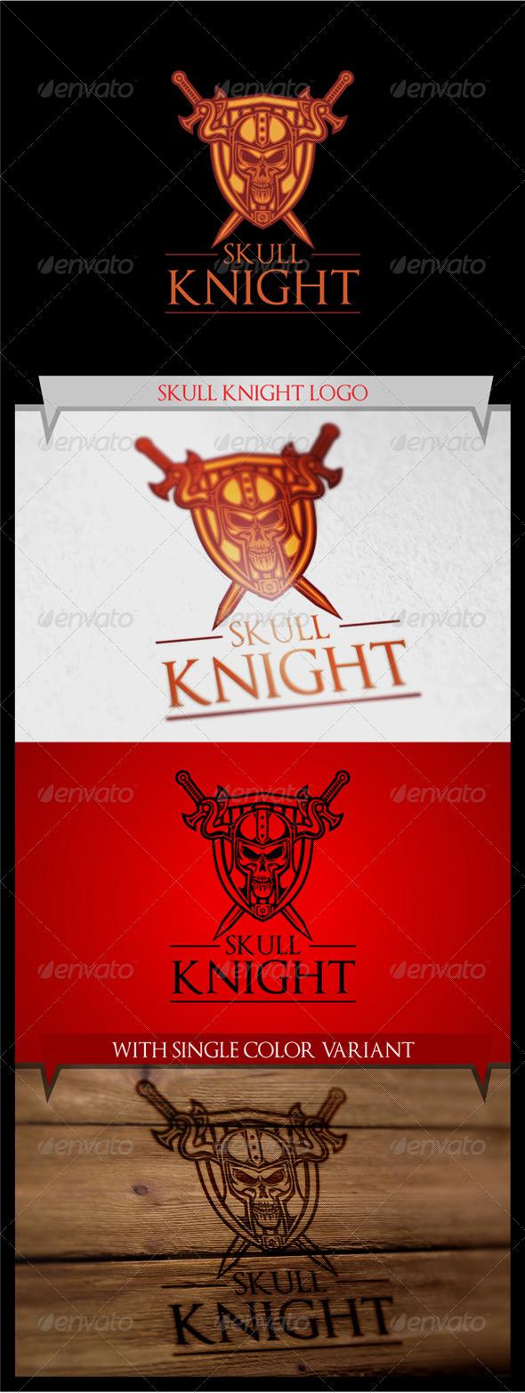 GraphicRiver Skull Knight Logo 7988967