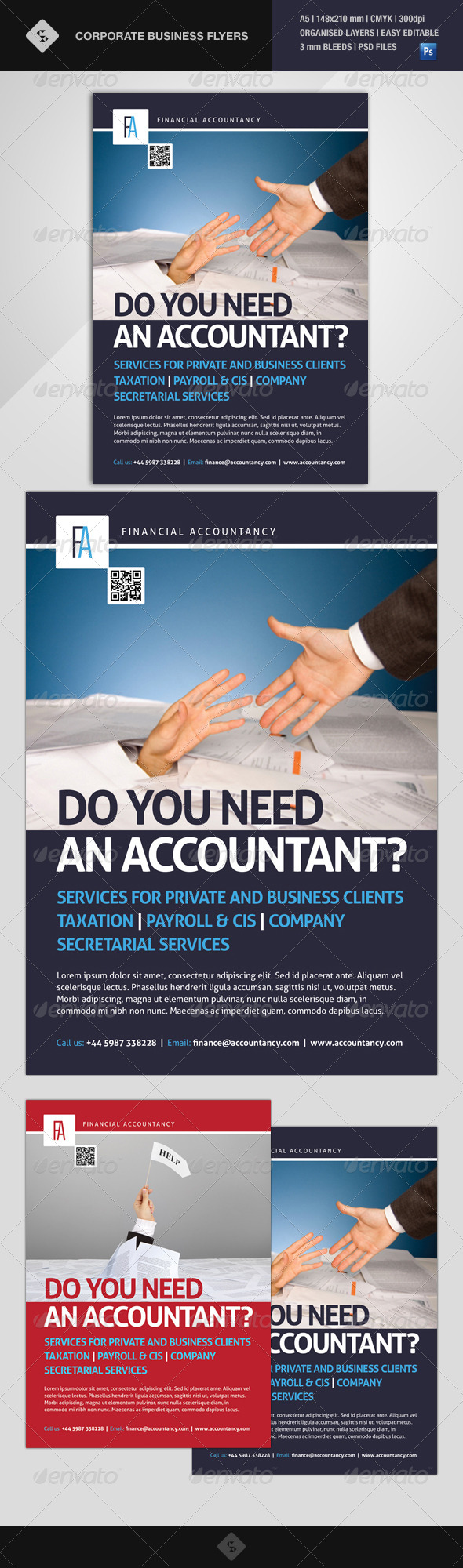 GraphicRiver Corporate Business Flyer Financial Accountancy 7988971
