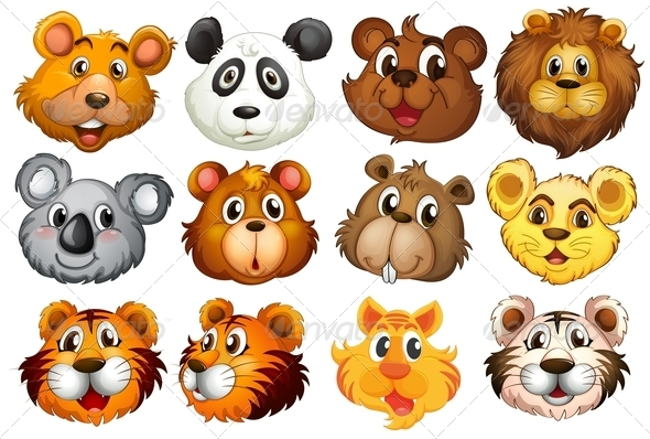 GraphicRiver Head of Different Animals 7988992
