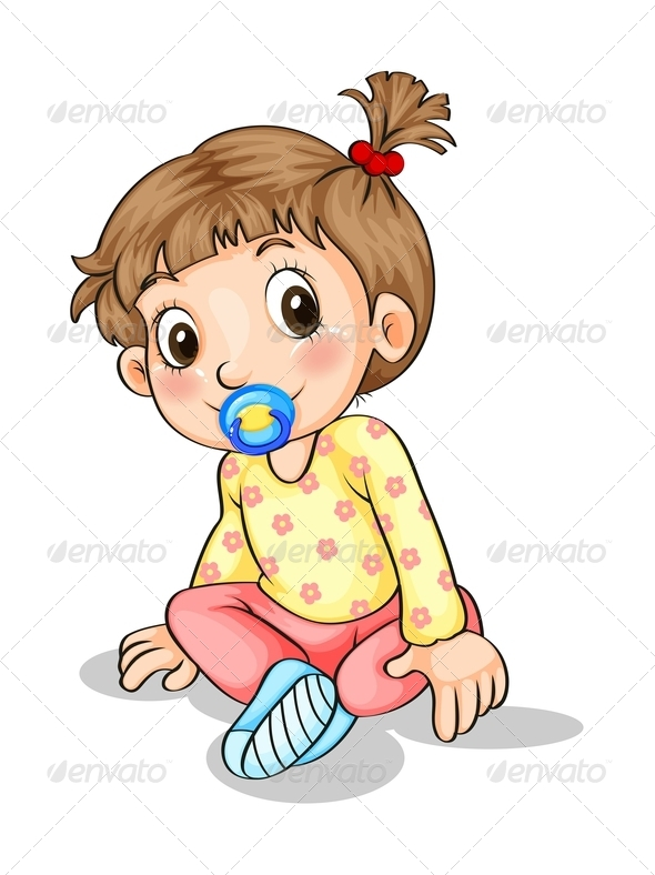 GraphicRiver Toddler with a Pacifier 7989028