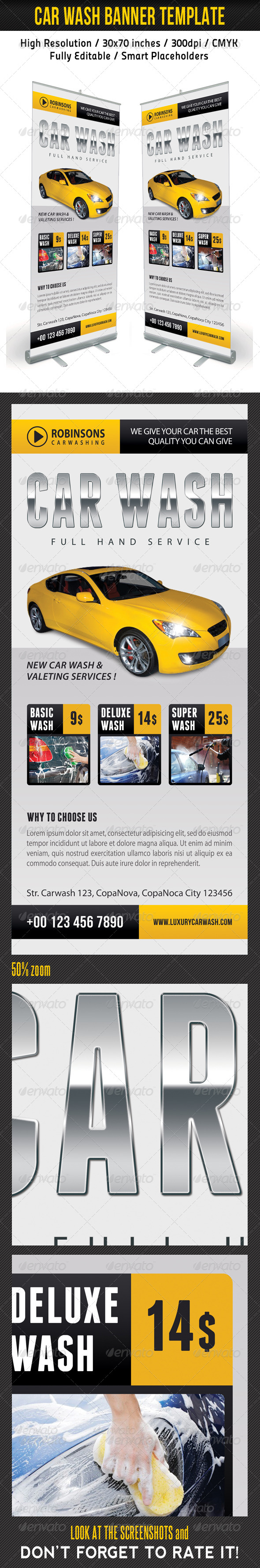GraphicRiver Car Wash Banner Template 03 7989136