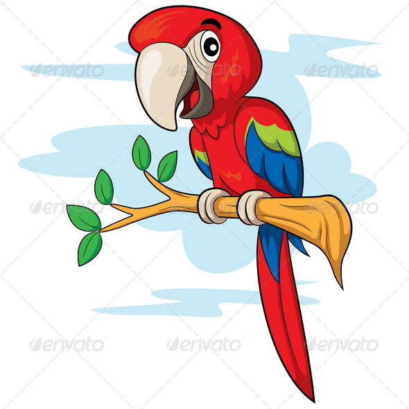 GraphicRiver Parrot Cartoon 7989145