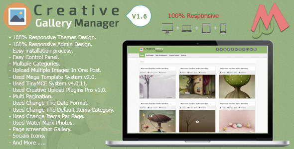 Creative Gallery Manager - CodeCanyon Item for Sale