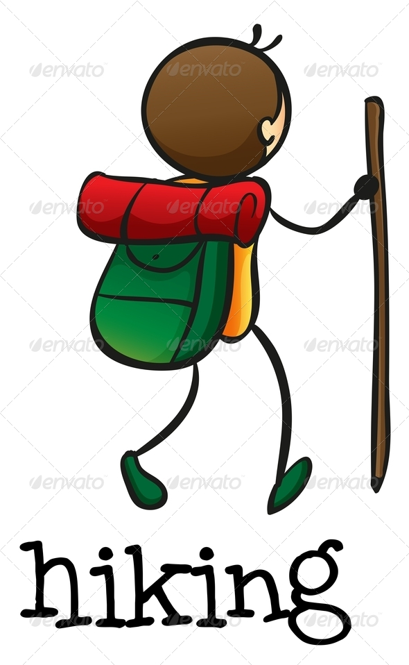 GraphicRiver A Stickman Hiking 7989225