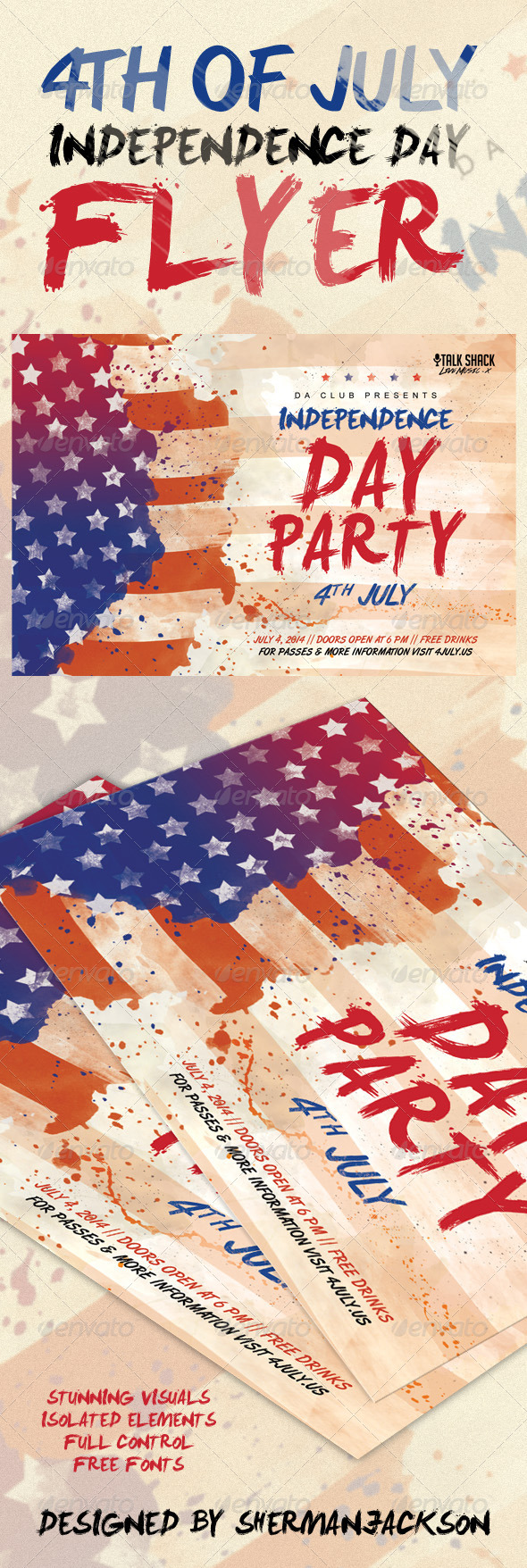 GraphicRiver 4th of July American Independence Day Flyer 7989259