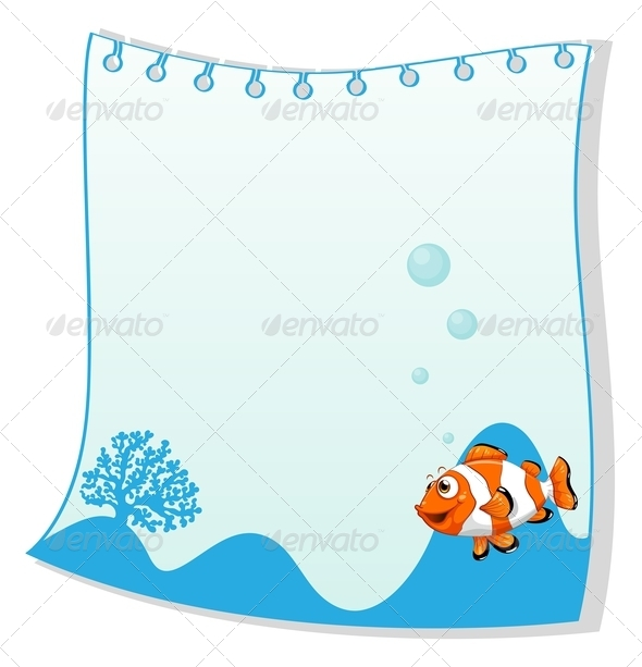 GraphicRiver Empty Paper with Fish 7989269