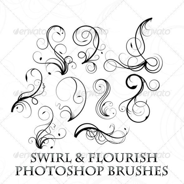 GraphicRiver Elegant Swirl Photoshop Brushes 7989281