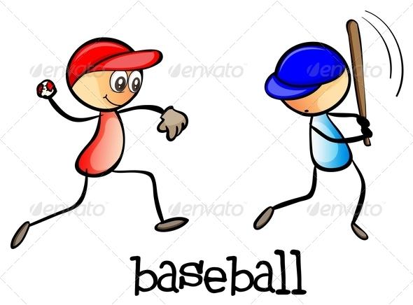 GraphicRiver Men Playing Baseball 7989389
