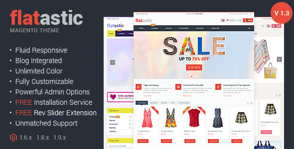 Flatastic : Fluid Responsive Magento Theme - Magento eCommerce
