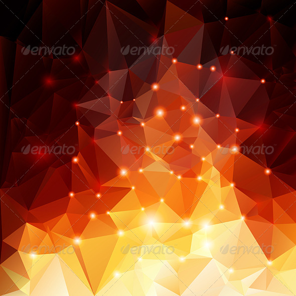 GraphicRiver Orange Polygonal Background 7989451