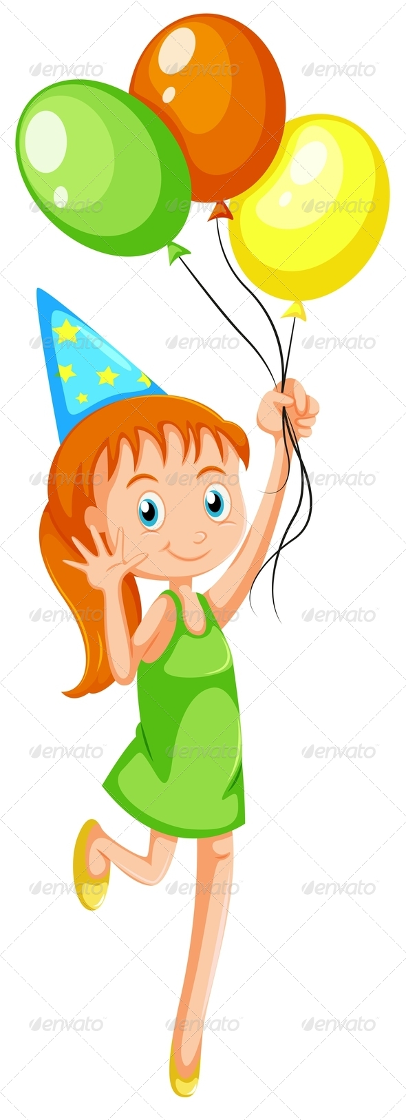 GraphicRiver A Young Girl with Three Balloons 7989527