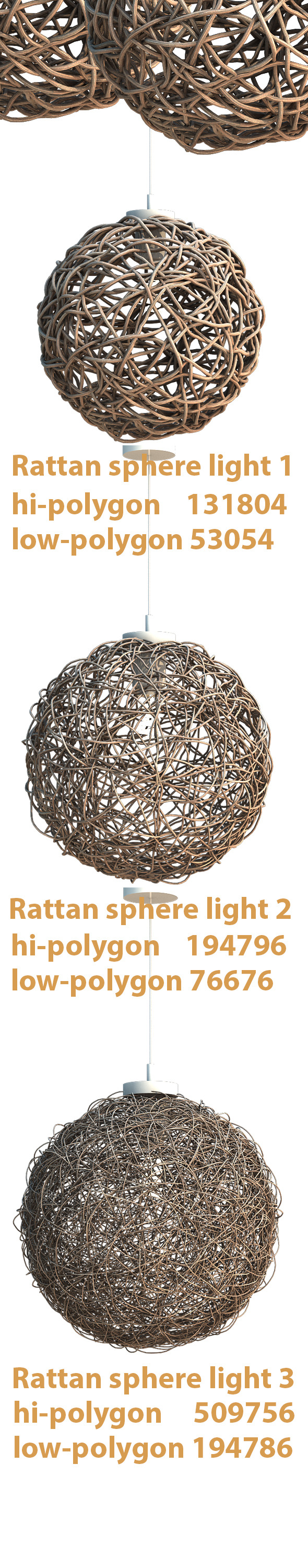 3DOcean Sphere Rattan Light 7989531