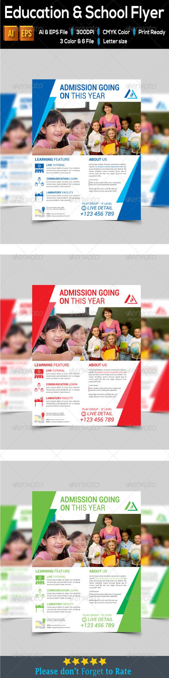 GraphicRiver Education & School Flyer 7989589