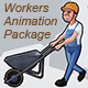 Workers Animation Package - VideoHive Item for Sale
