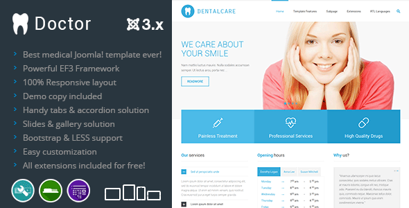 ThemeForest Doctor Joomla Health & Services Template 7938510