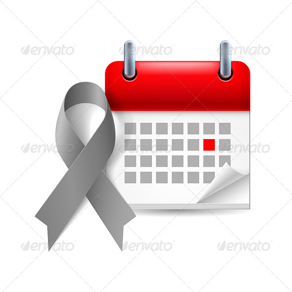 GraphicRiver Awareness Ribbon and Calendar 7989672