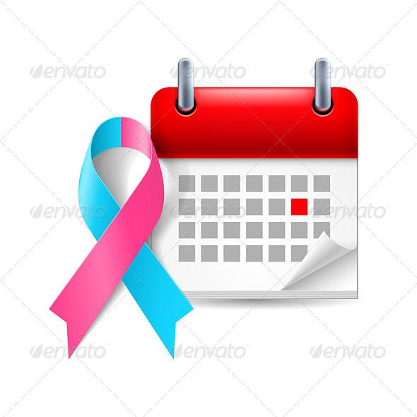 GraphicRiver Awareness Ribbon and Calendar 7989673