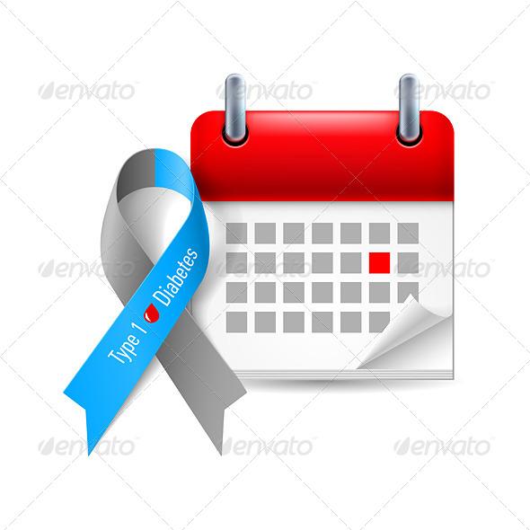 GraphicRiver Awareness Ribbon and Calendar 7989674