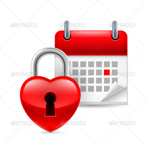 GraphicRiver Heart and Calendar 7989678