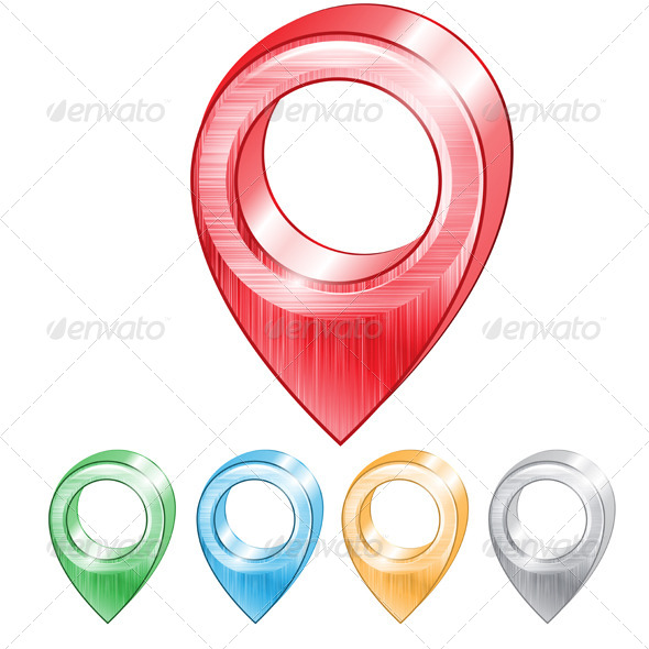 GraphicRiver Map Pointers Set 7989884