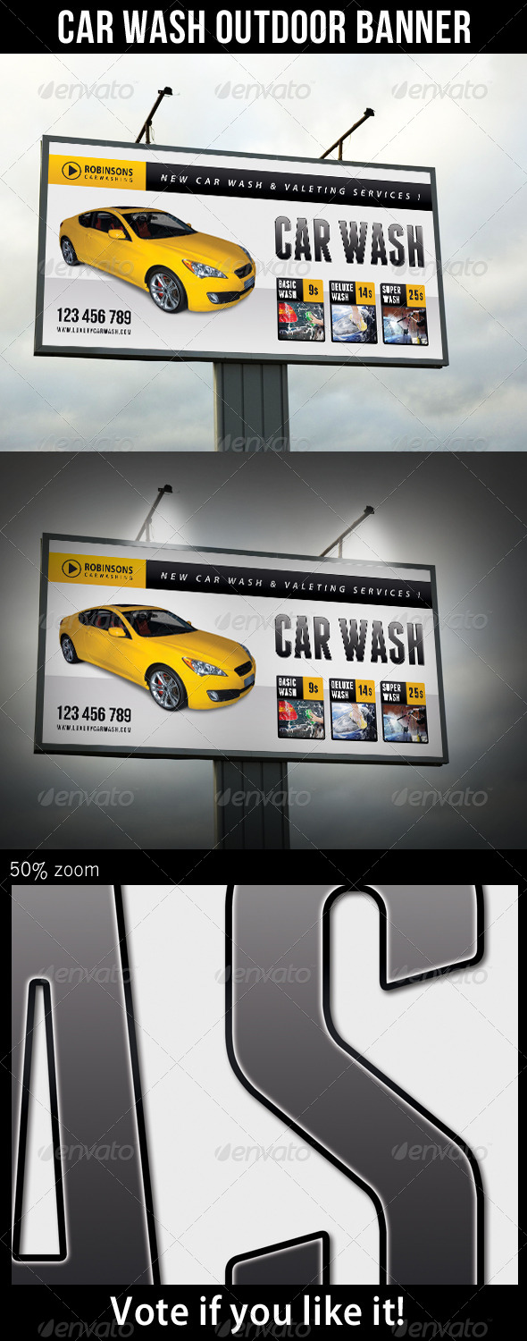 GraphicRiver Car Wash Outdoor Banner 02 7989947