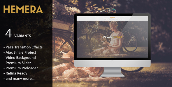 Hemera - Responsive Unique HTML 5 Template - Creative Site Templates