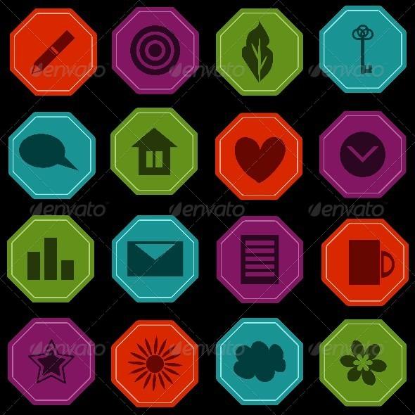 GraphicRiver Icons Set 7990275