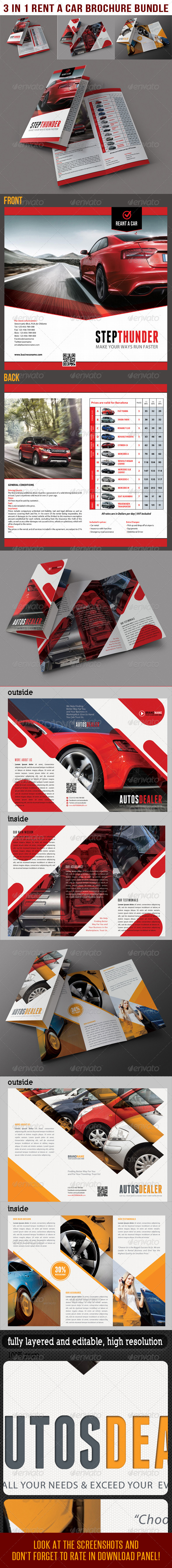 GraphicRiver 3 in 1 Rent A Car Brochure Bundle 03 7990321