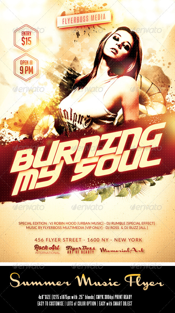 GraphicRiver Summer Music Flyer 7990322