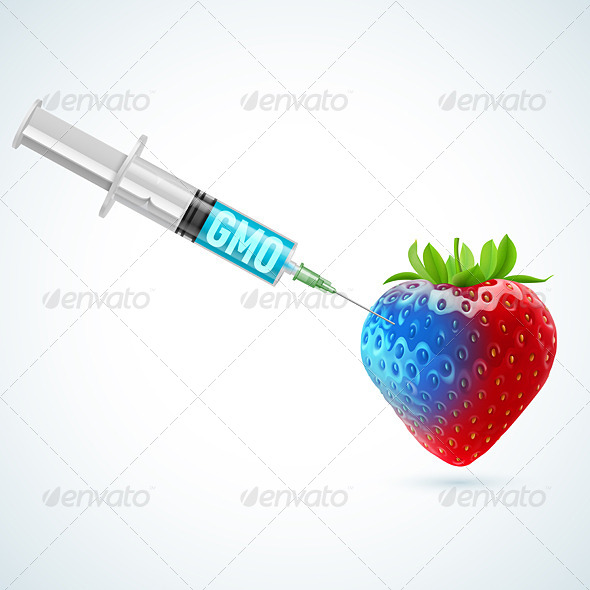 GraphicRiver Strawberry with GMO 7990365