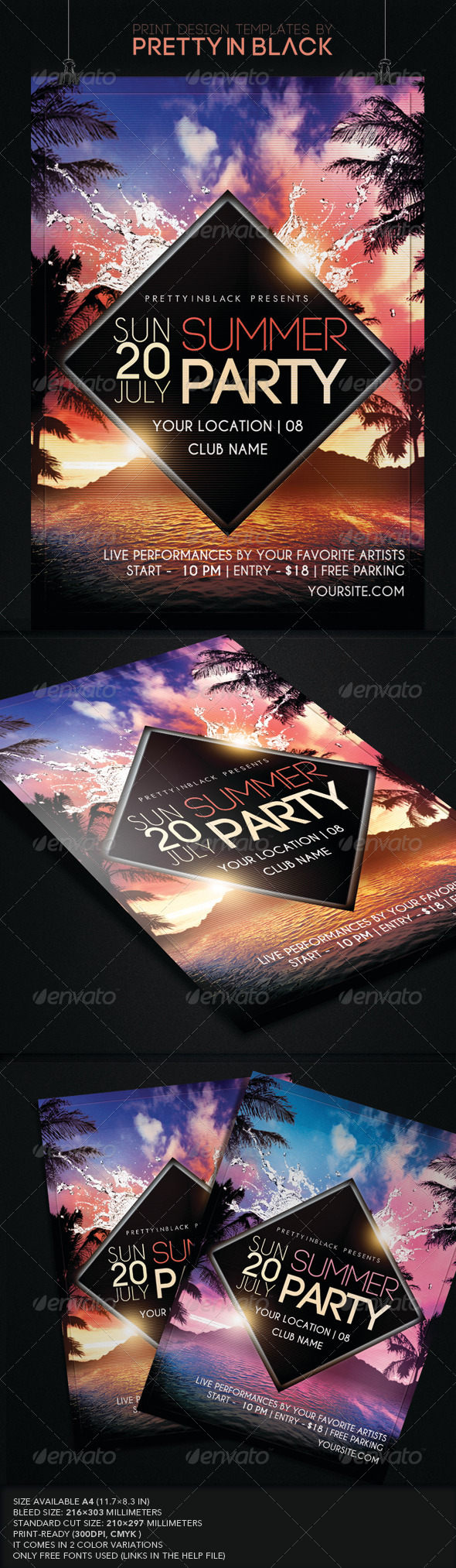 GraphicRiver Summer Party Flyer 7990499