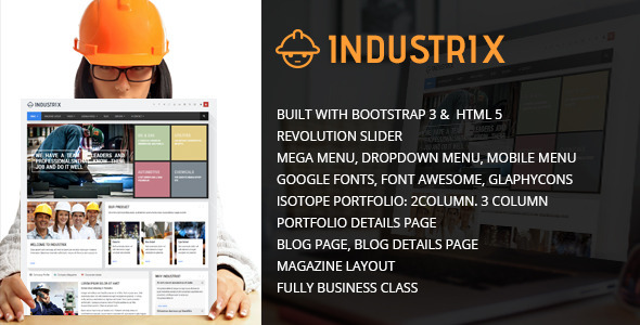 ThemeForest Industrix HTML5 Responsive template 7878739